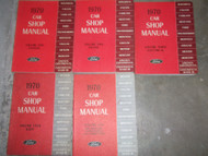 1970 FORD Fairlane Falcon Maverick Mustang Thunderbird Service Shop Manual Set