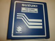 1970s 1980s Suzuki Two Stroke 2 Stroke Service Bulletin Index Manual STAINED OEM
