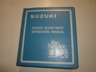 1970s 1980s Suzuki Warranty Policy Procedure Flat Rate Manual BINDER FACTORY OEM