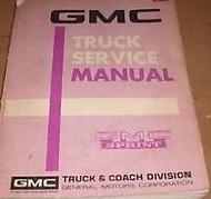 1972 GMC SPRINT TRUCK Service Shop Repair Workshop Manual OEM Factory