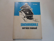 1972 Snowmobile ALL MODELS Service Repair Shop Manual 5th Ed. STAINED WORN OEM