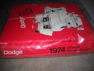 1974 Dodge Challenger Dart Charger Service Repair Shop Workshop Manual Set OEM