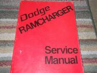1974 Dodge Ramcharger TRUCK Service Shop Repair Manual FACTORY DIESEL OEM x