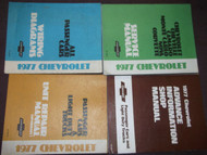 1977 Chevy Camaro Nova Monte Carlo Chevelle Service Repair Shop Manual Set