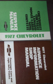 1977 Chevy Camaro Nova Monte Carlo Chevelle Service Repair Shop Manual Set W ADV