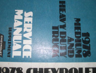 1978 Chevy Heavy & Medium Duty Truck Service Shop Repair Manual SUPPLEMENT x