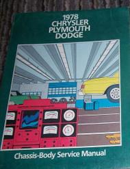 1978 DODGE MAGNUM Chassis Body Service Shop Repair Manual DEALERSHIP FACTORY