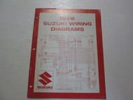 1978 Suzuki Motorcycle C Models Wiring Diagrams Manual MINOR FADING STAINED OEM
