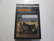 1979 1984 Clymer Suzuki GS850 1100 Shaft Drive Service Repair Manual 2nd EDITION