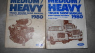 1980 Ford F B C L 600 9000 Medium & Heavy Truck Service Shop Repair Manual Set
