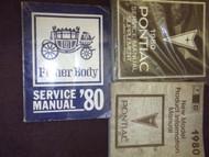 1980 Pontiac Firebird Trans Am Grand Prix Service Shop Repair Manual SET FACTORY