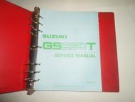 1981 1985 Suzuki GS250T GS300L Service Repair Manual RED BINDER MINOR STAINS