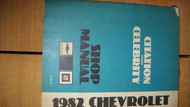 1982 GM Chevy Citation Celebrity Service Repair Shop Workshop Manual OEM