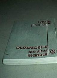 1982 GM Oldsmobile Olds Firenza Service Shop Repair Workshop Manual OEM Factory