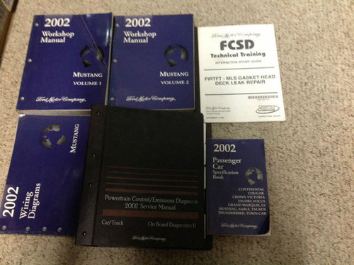2002 Ford Mustang Gt Cobra Mach Service Shop Repair Manual Set W Ewd Pced   More