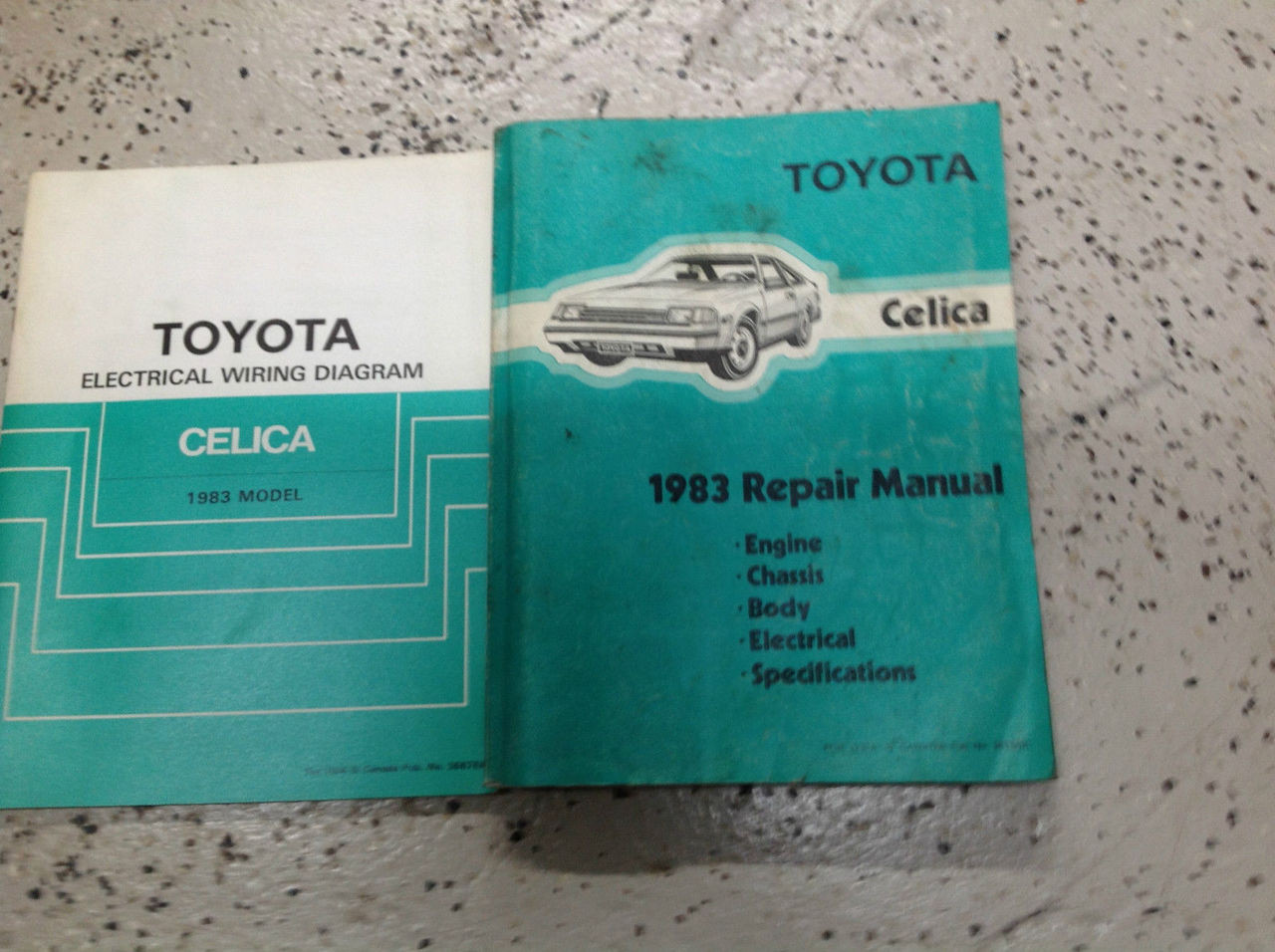 1983 Toyota Celica Service Repair Shop Manual Set W
