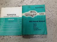 1983 TOYOTA CELICA Service Repair Shop Manual SET W Electrical Wiring Diagram x