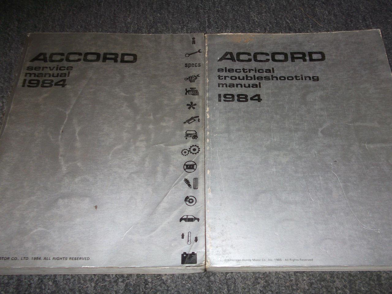 1984 Honda Accord Service Shop Repair Manual Set W Electrical Wiring Diagram