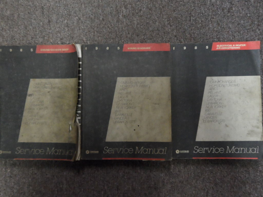1985 Dodge Daytona Service Shop Repair Workshop Manual Set