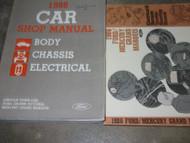 1986 Ford Crown Victoria Lincoln Town Car Grand Marquis Service Shop Manual Set