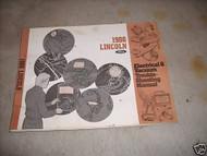 1986 Lincoln Electrical & Vacuum Troubleshooting Service Manual EWD EVTM OEM