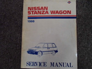 1986 Nissan Stanza Wagon Service Repair Shop Manual Factory OEM Book 86 x