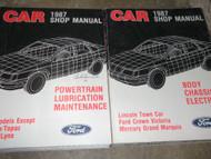 1987 Ford Crown Victoria & Mercury Grand Marquis Service Shop Repair Manual Set