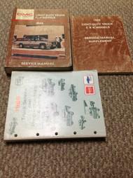 1988 GMC C/K MODELS SIERRA JIMMY 1500 TRUCK LIGHT Service Shop Repair Manual SET
