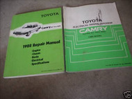 1988 Toyota Camry ALL-TRAC Service Repair Shop Manual Set 88 W Wiring Book