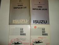 1990 Isuzu Impulse Service Repair Shop Manual 4 VOLUME SET OEM WORN STAINED