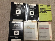 1991 Jeep WRANGLER CHEROKEE COMANCHE Service Shop Repair Manual SET OEM