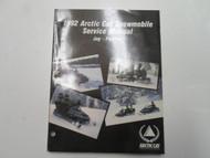 1992 ARCTIC CAT Jag Panther Service Repair Shop Manual FACTORY OEM MINOR WEAR 92