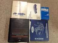 1992 FORD LINCOLN CONTINENTAL Service Shop Repair Manual Set W PCED & TRANSAXLE