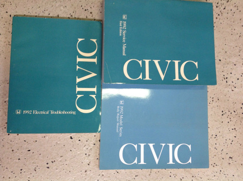 1992 Honda Civic Service Shop Repair Manual Set W Body