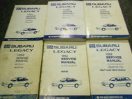 1992 Subaru Legacy Service Repair Shop Manual HUGE SET FACTORY OEM BOOKS 92 x