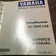 1999 2000 YAMAHA WAVERUNNER XL1200 Ltd Service Repair Shop Manual BRAND NEW X