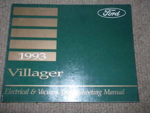 1993 Ford Mercury Villager Van Electrical Wiring Diagram Service Shop Manual Ewd