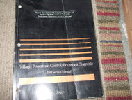 1993 Mercury Villager Powertrain Control Emission Diagnosis Manual PCED OEM