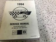 1994 Chevrolet Chevy Corvette Service Repair Shop Manual FACTORY OEM BOOK 94