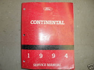 1994 Lincoln Continental Service Shop Repair Workshop Manual OEM Factory
