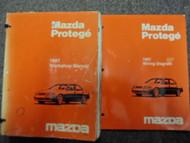 1997 Mazda Protege Service Repair Shop Manual SET OEM W Wiring Diagram Book EWD