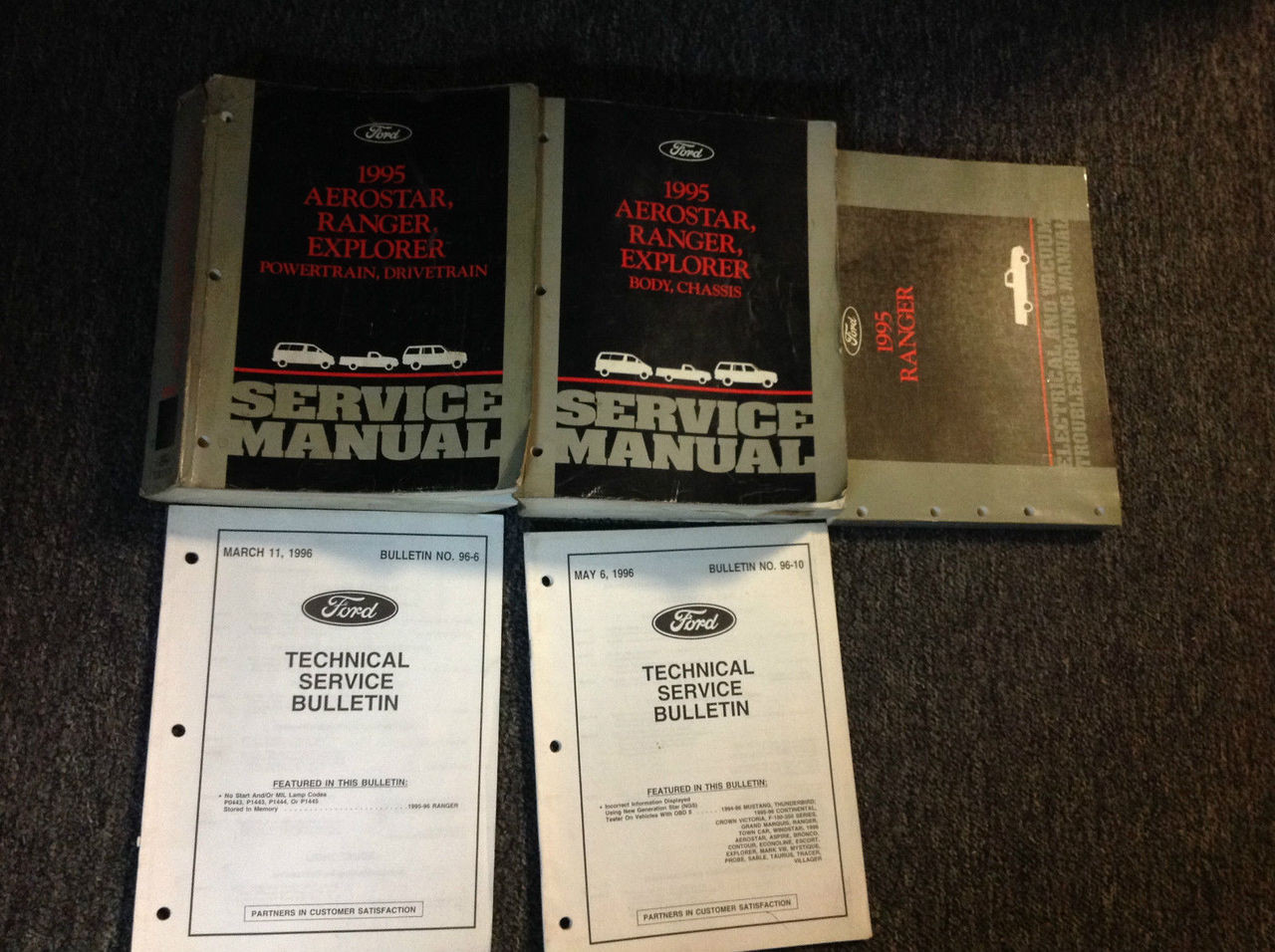 1995 Ford Ranger Truck Service Shop Repair Manual Set Oem