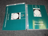 1998 Ford Mercury Villager Service Shop Manual Set 98 W Electrical Vacuum EVTM