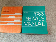 1983 DODGE RAM VAN VANS WAGON WAGONS Voyager Service Repair Shop Manual Set W Re