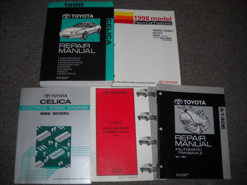 1998 Toyota Celica Service Repair Shop Manual Set Oem W