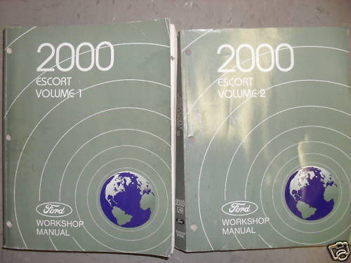 2000 Ford Escort Service Shop Repair Workshop Manual Set
