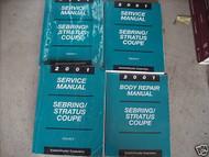 2001 CHRYSLER SEBRING & Dodge Stratus Coupe Service Shop Manual Set FACTORY D