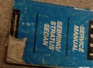 2001 CHRYSLER SEBRING & DODGE STRATUS SEDAN Service Shop Repair Manual OEM