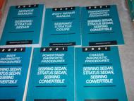 2001 CHRYSLER SEBRING & STRATUS SEDAN Service Shop Repair Manual SET HUGE 6 VOL