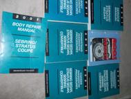 2001 CHRYSLER SEBRING & STRATUS SEDAN Service Shop Repair Manual SET HUGE 7 VOL